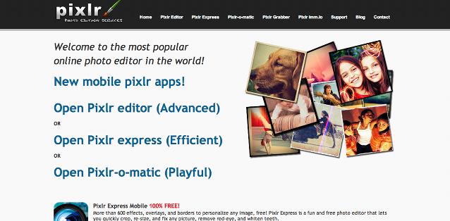 Pixlr para edição de imagens