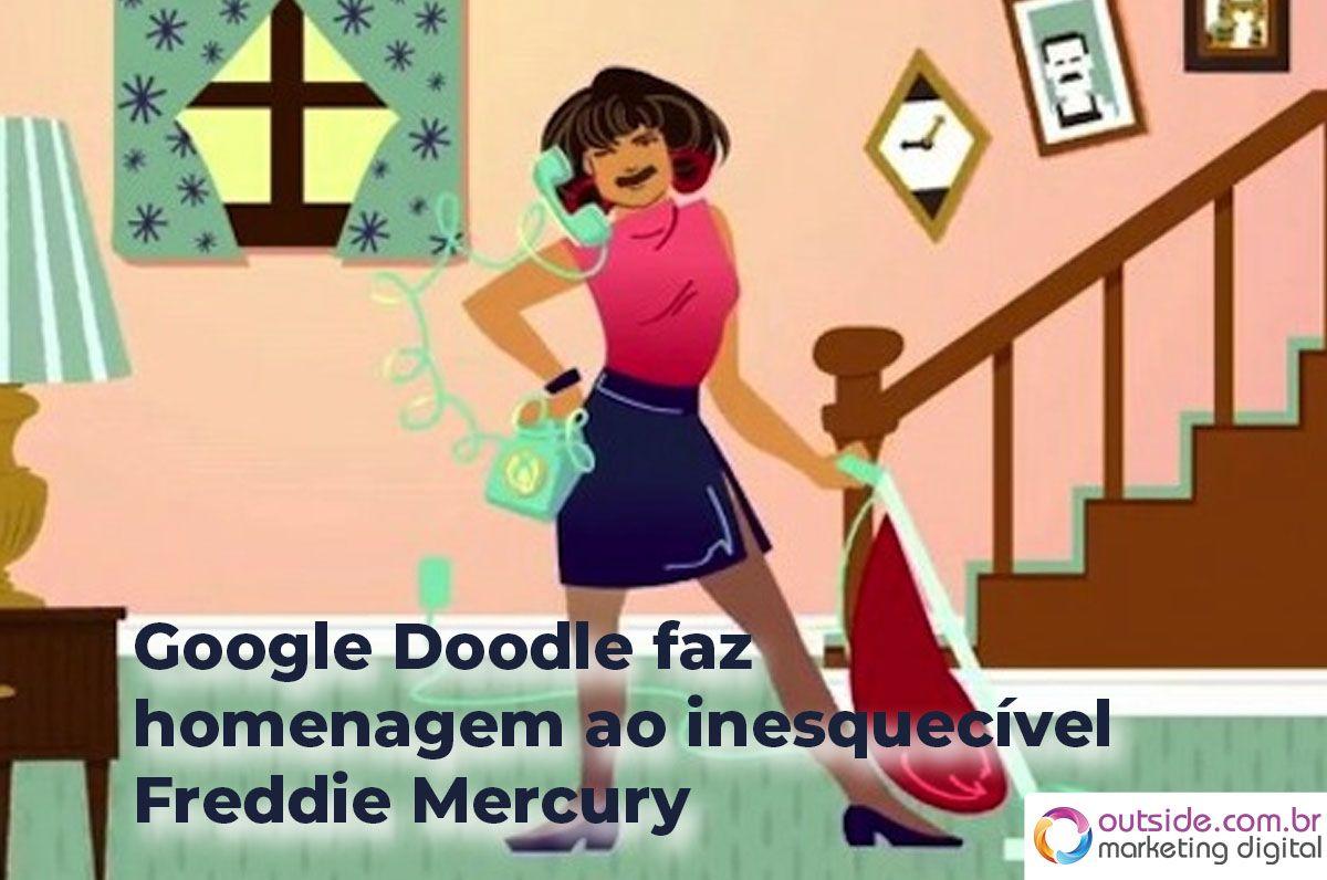 Google Doodle faz homenagem ao inesquecível Freddie Mercury